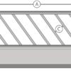 Diagonaal voerhek schematisch